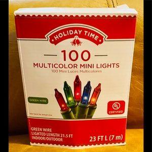 Holiday Time Mini Multi Color Lights NWT